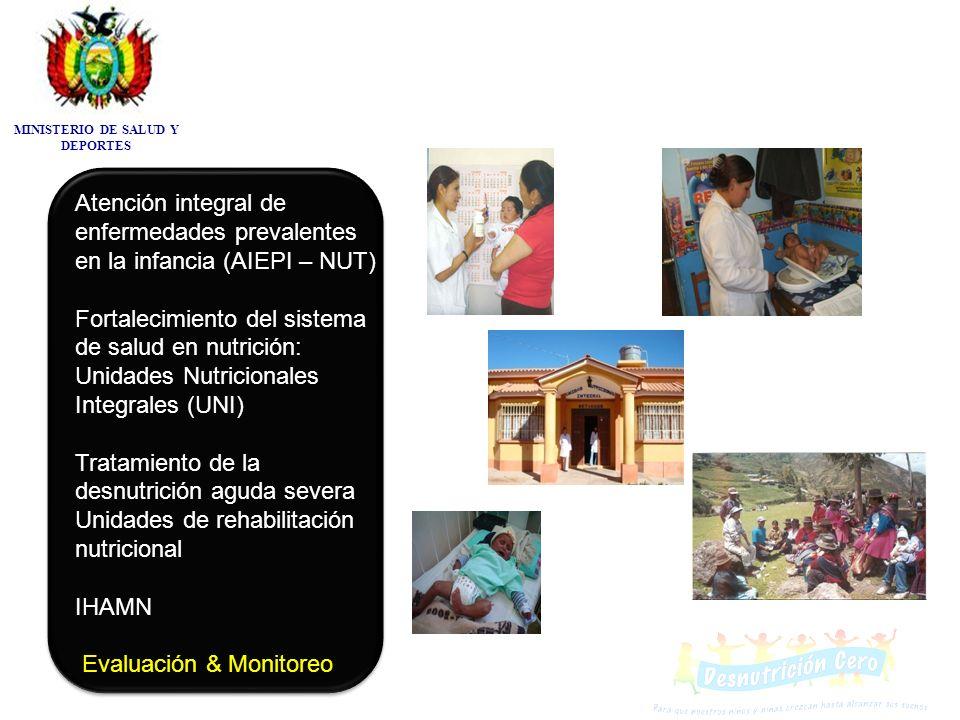 Atención integral de enfermedades prevalentes en la infancia (AIEPI – NUT) Fortalecimiento del sistema de salud en nutrición: Unidades Nutricionales I