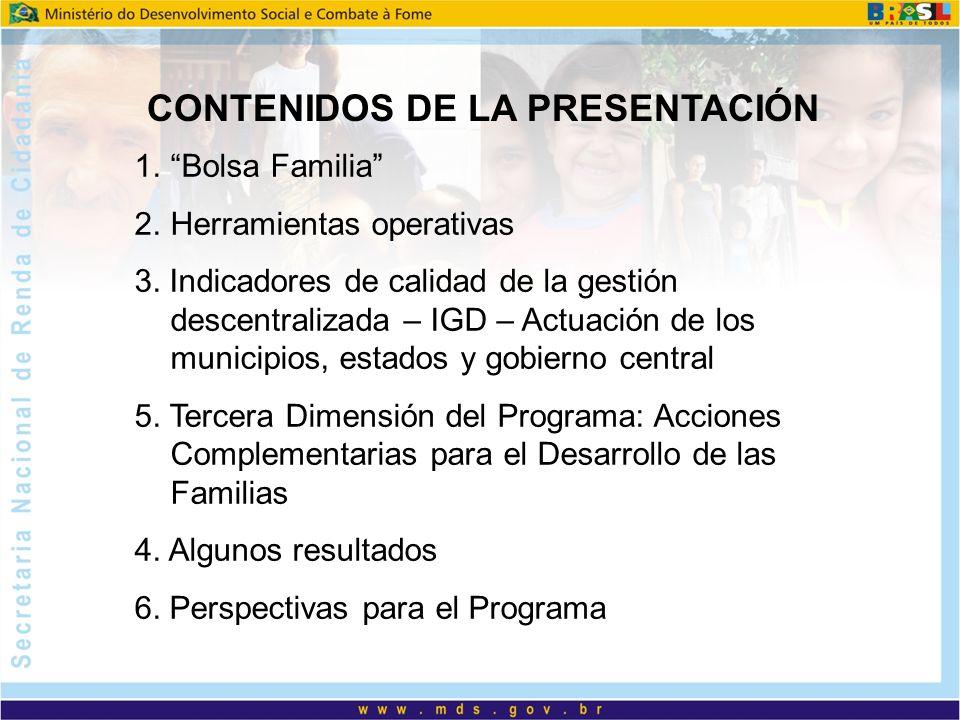 Evaluación de Impacto 15.240 familias en 269 municipios Gastos con alimentos de las familias extremamente pobres há aumentado en 35%.