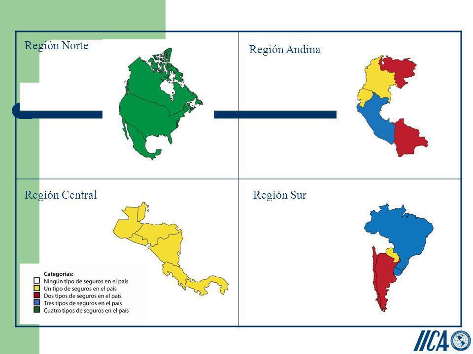 Región Norte Región CentralRegión Sur Región Andina
