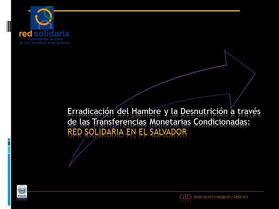 Eje 1: Red Solidaria a Familias Eje 2: Red de Servicios Básicos Eje 3: Red de Sostenibilidad a Familias RED SOLIDARIA es un programa social del Gobierno de El Salvador destinado a atender a 100 municipios en condiciones de pobreza extrema, con el objetivo de mejorar de forma integral las condiciones de vida de las familias.