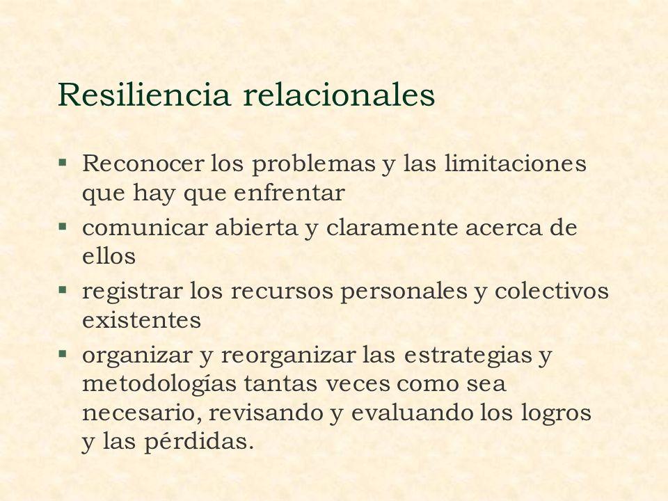 Resiliencia Comunitaria: §autoestima colectiva §identidad cultural §humor social §honestidad estatal