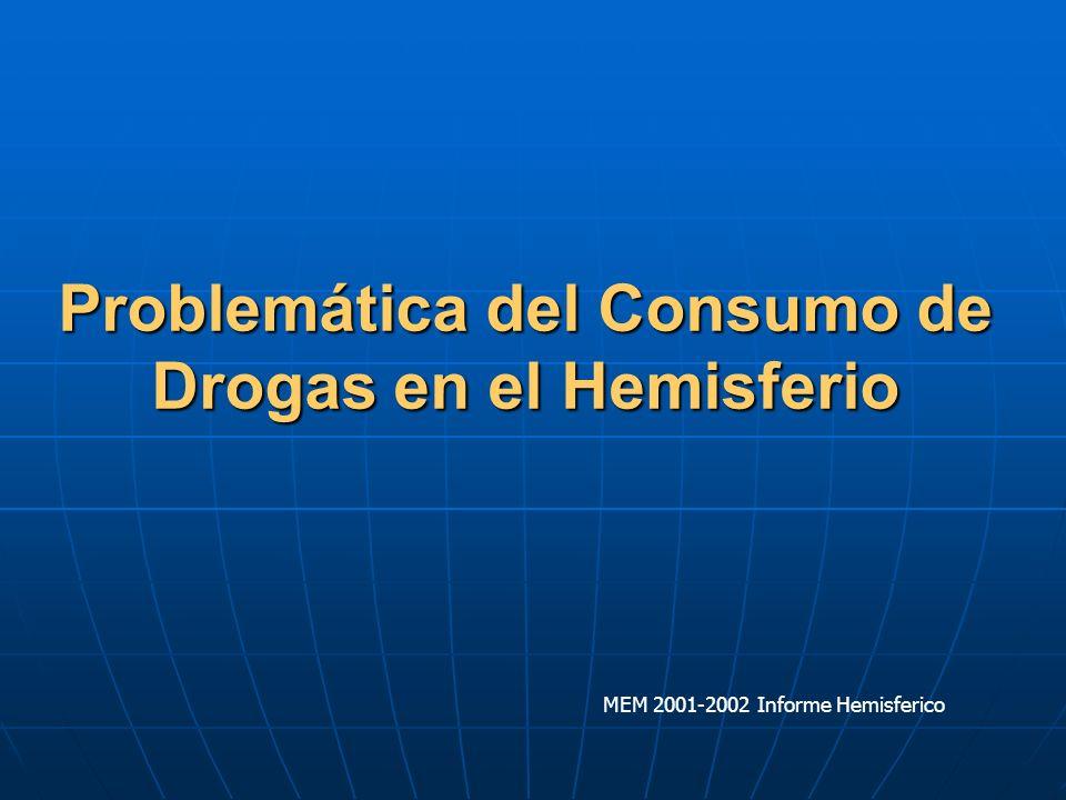 Problemática del Consumo de Drogas en el Hemisferio MEM 2001-2002 Informe Hemisferico