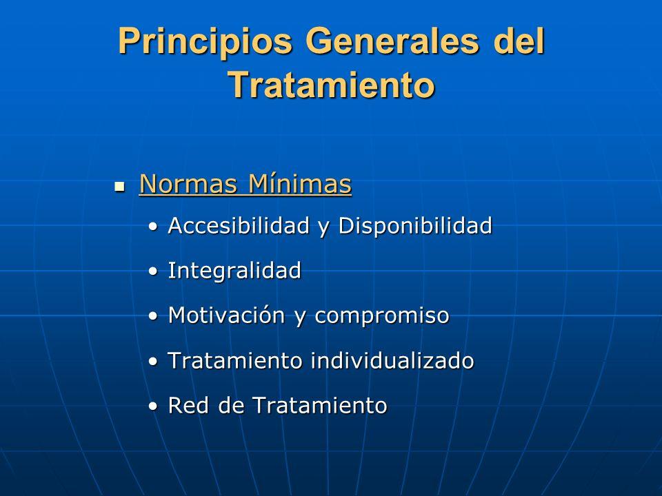 Principios Generales del Tratamiento Normas Mínimas Normas Mínimas Accesibilidad y DisponibilidadAccesibilidad y Disponibilidad IntegralidadIntegralid