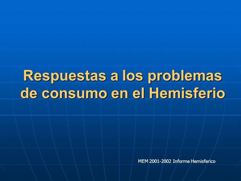 Los países incorporan programas de reducción de la demanda como un componente clave de las estrategias de abordaje del problema de las drogas MEM 2001-2002 Informe Hemisferico