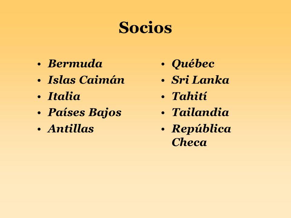 Socios Bermuda Islas Caimán Italia Países Bajos Antillas Québec Sri Lanka Tahití Tailandia República Checa