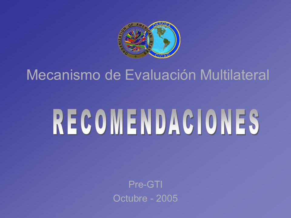 Mecanismo de Evaluación Multilateral Pre-GTI Octubre - 2005