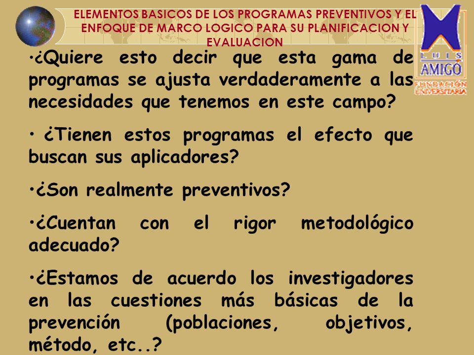 ¿Es la evaluación de programas tan importante en el proceso preventivo.
