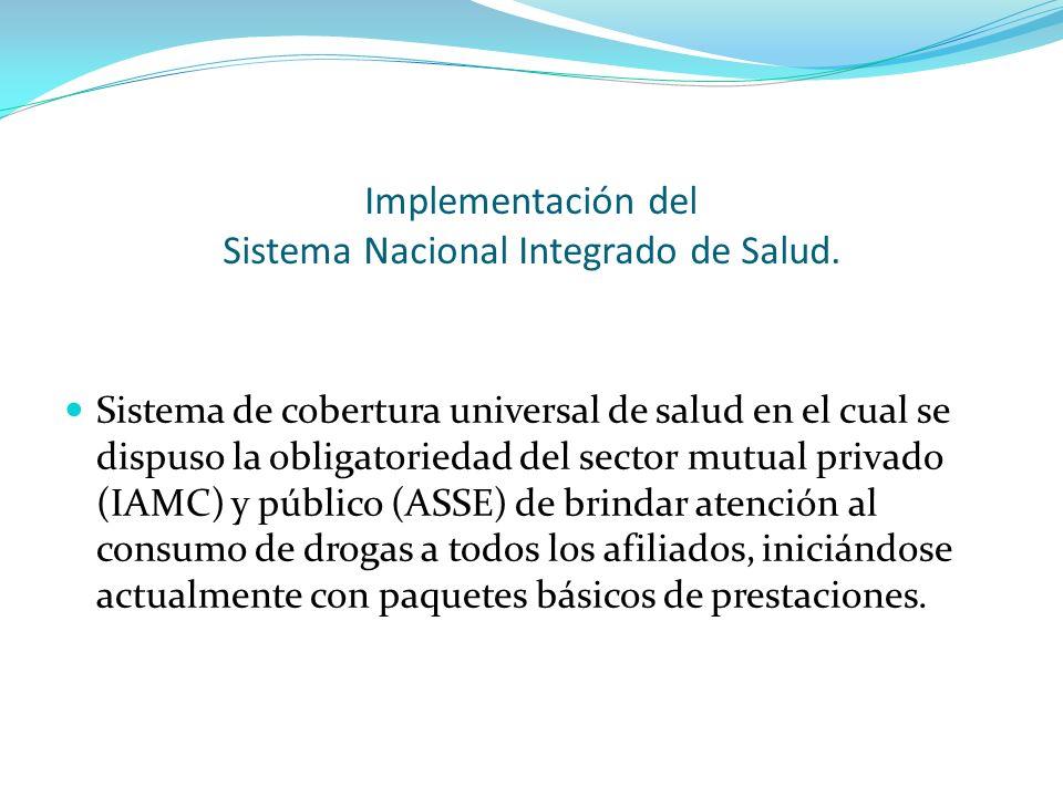 Implementación del Sistema Nacional Integrado de Salud. Sistema de cobertura universal de salud en el cual se dispuso la obligatoriedad del sector mut