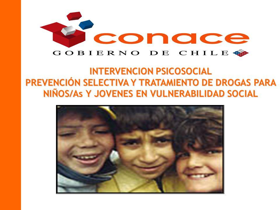 INTERVENCION PSICOSOCIAL PREVENCIÓN SELECTIVA Y TRATAMIENTO DE DROGAS PARA NIÑOS/As Y JOVENES EN VULNERABILIDAD SOCIAL