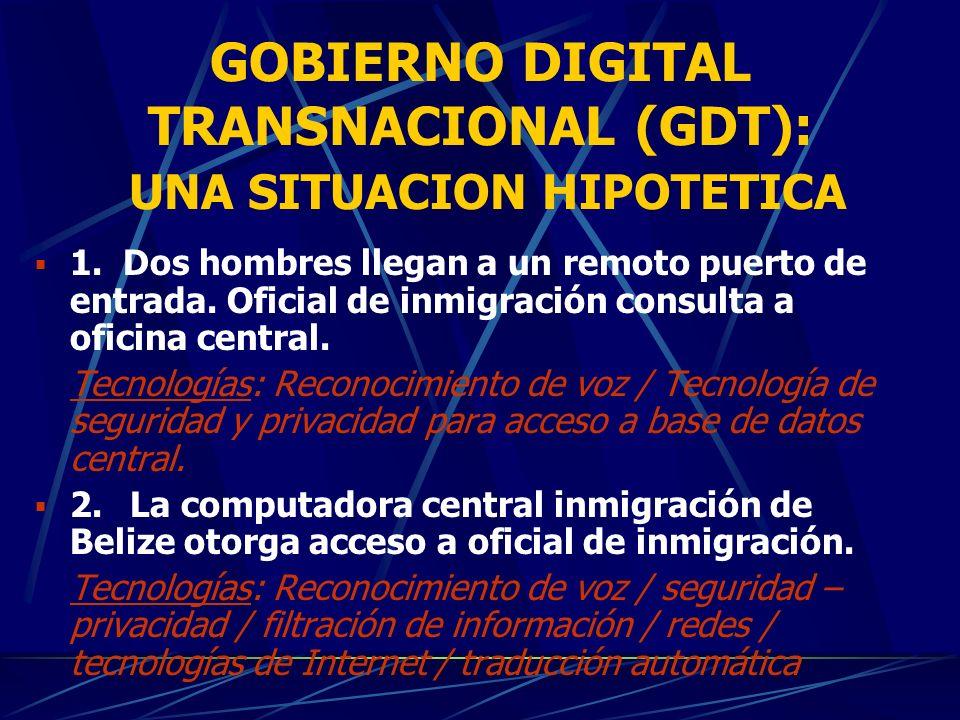 GOBIERNO DIGITAL TRANSNACIONAL (GDT): El futuro a corto plazo