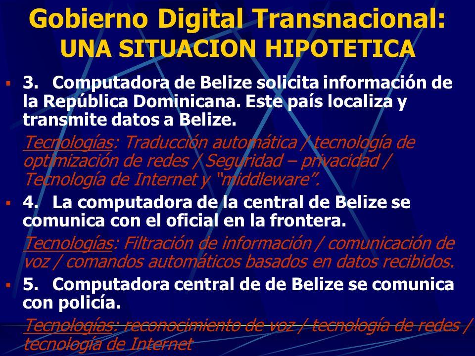 GOBIERNO DIGITAL TRANSNACIONAL (GDT): UNA SITUACION HIPOTETICA 1.