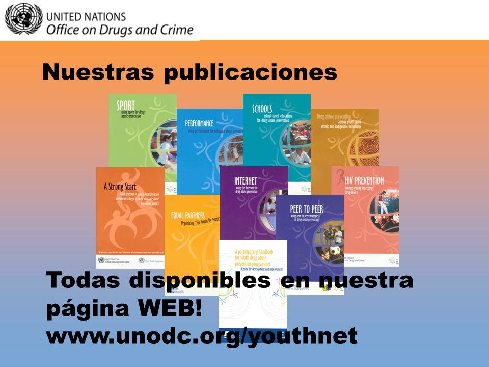 Nuestras publicaciones Todas disponibles en nuestra página WEB! www.unodc.org/youthnet