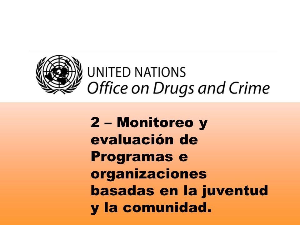 2 – Monitoreo y evaluación de Programas e organizaciones basadas en la juventud y la comunidad.