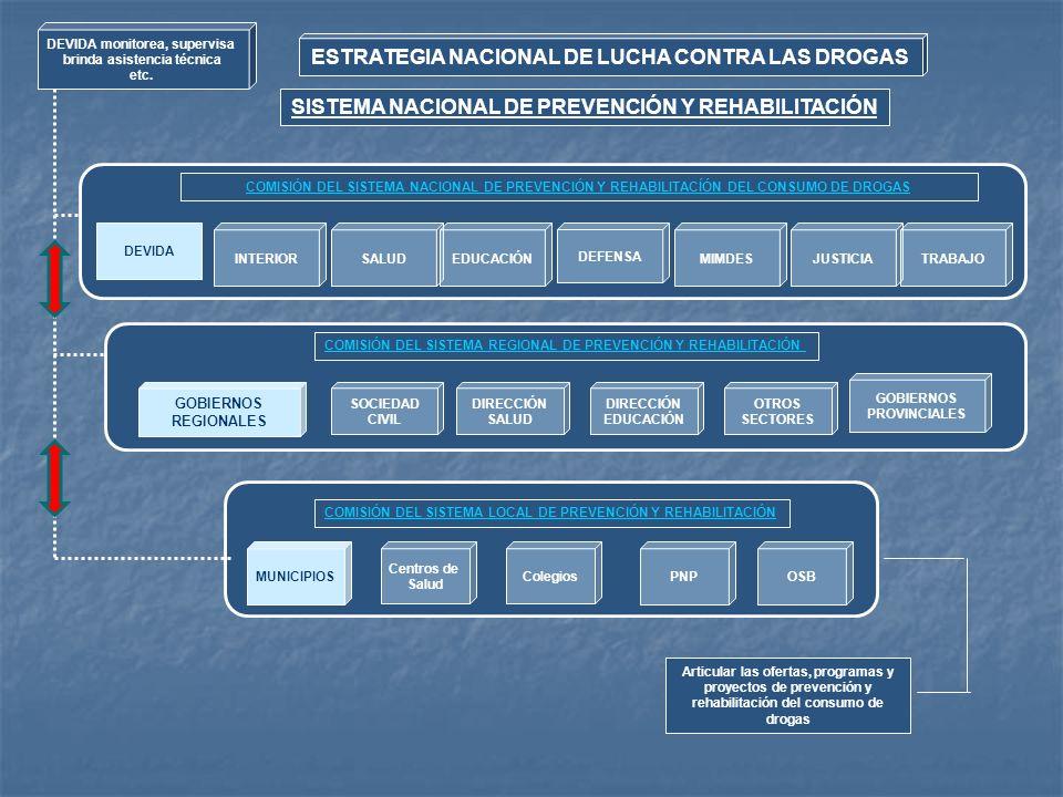 SISTEMA NACIONAL DE PREVENCIÓN Y REHABILITACIÓN COMISIÓN DEL SISTEMA NACIONAL DE PREVENCIÓN Y REHABILITACÍÓN DEL CONSUMO DE DROGAS SALUDEDUCACIÓN DEFE