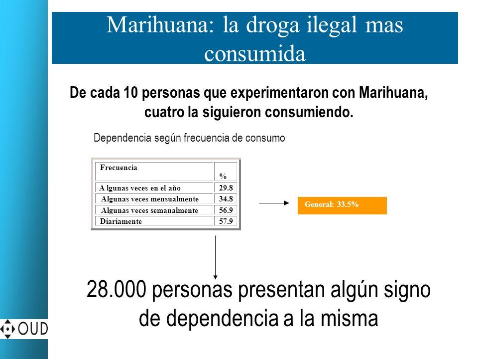4.0 1.4 0.8 5.Cocaína: un consumo experimental en aumento.