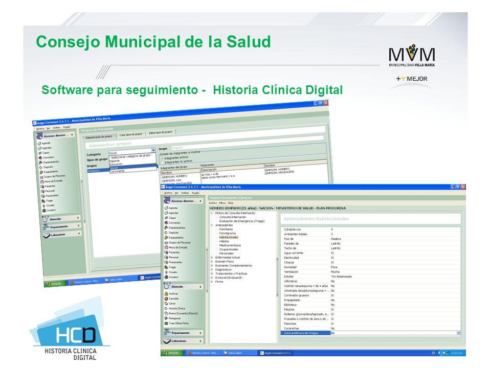 Software para seguimiento - Historia Clínica Digital