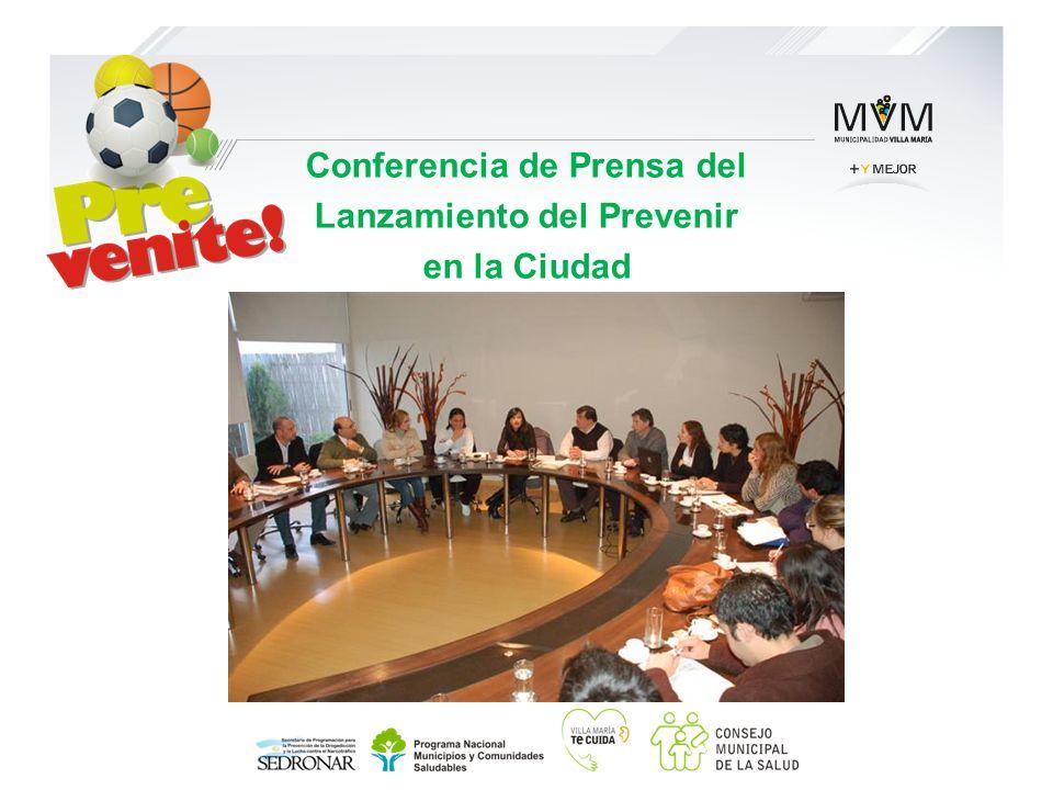 Conferencia de Prensa del Lanzamiento del Prevenir en la Ciudad