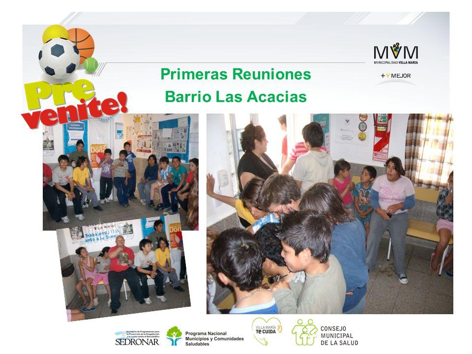 Primeras Reuniones Barrio Las Acacias