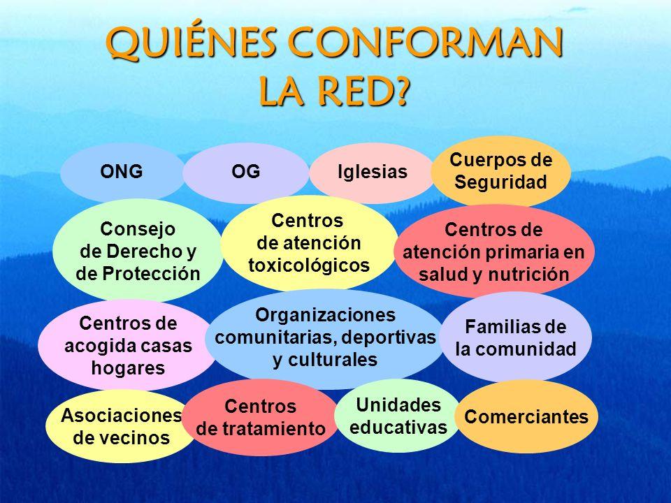 QUIÉNES CONFORMAN LA RED.