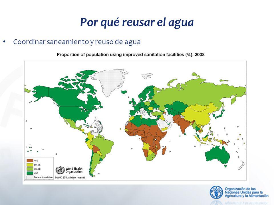 Coordinar saneamiento y reuso de agua Por qué reusar el agua
