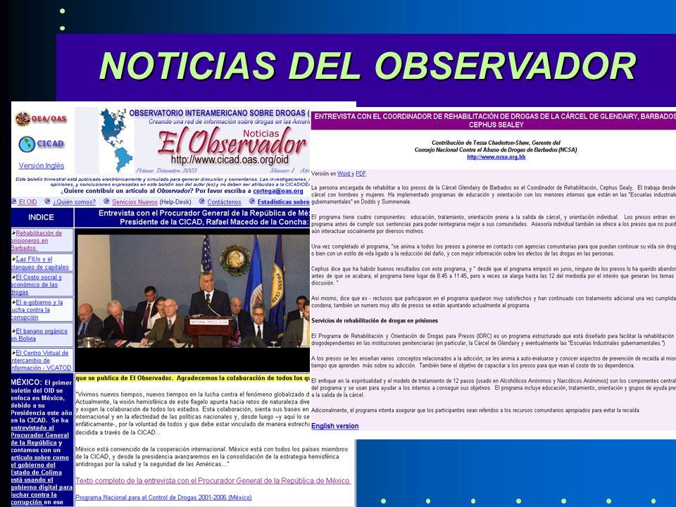 NOTICIAS DEL OBSERVADOR