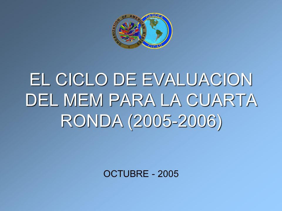 EL CICLO DE EVALUACION DEL MEM PARA LA CUARTA RONDA (2005-2006) OCTUBRE - 2005