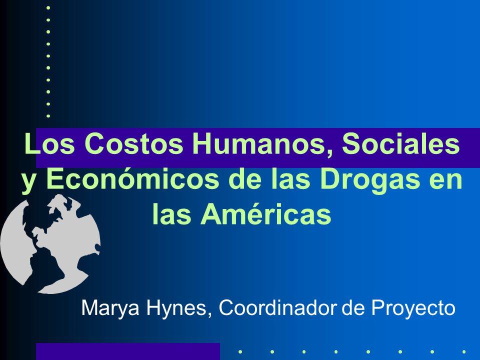 Los Costos Humanos, Sociales y Económicos de las Drogas en las Américas Marya Hynes, Coordinador de Proyecto