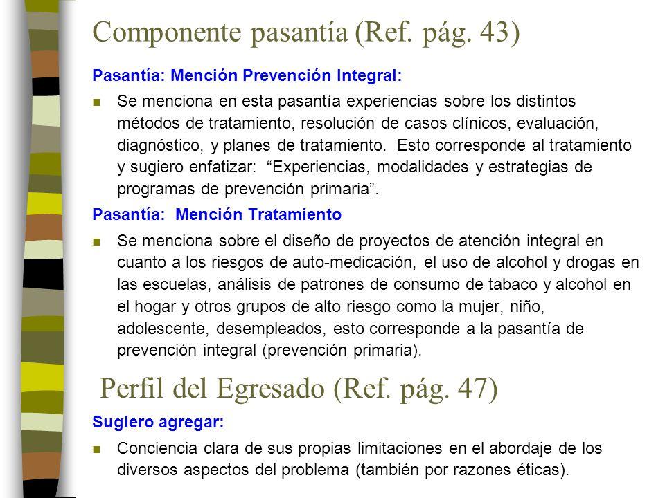 Componente pasantía (Ref. pág.