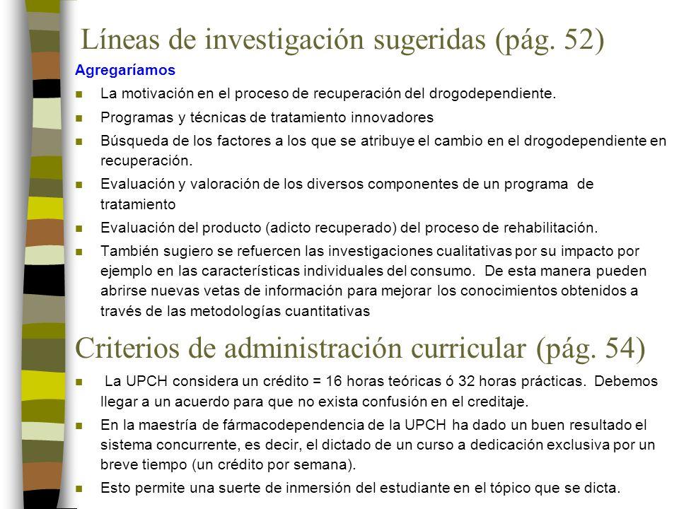 Líneas de investigación sugeridas (pág.
