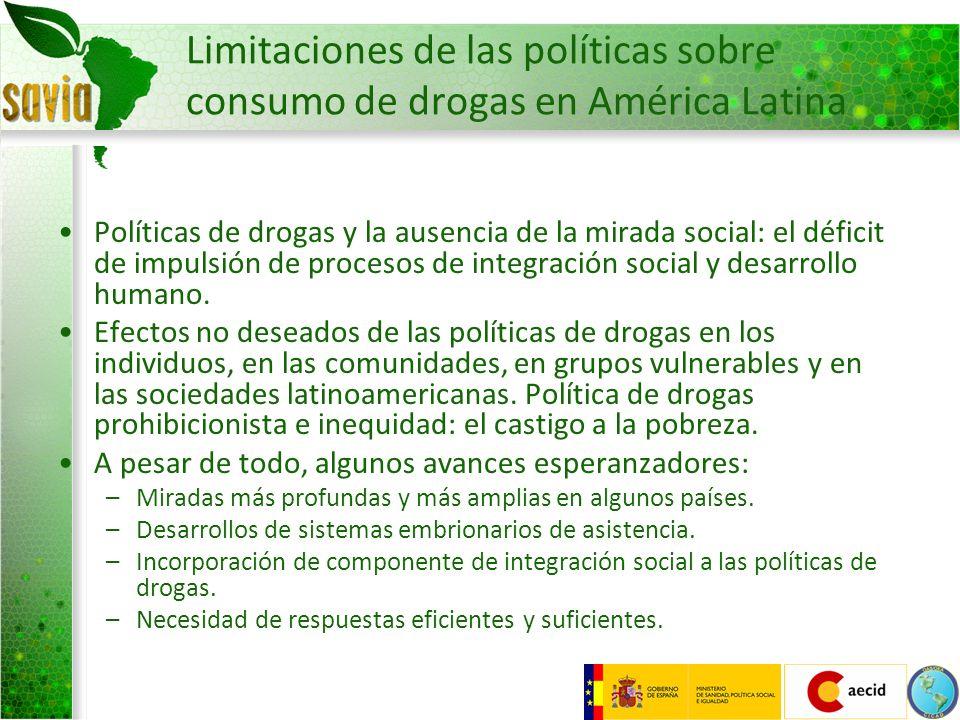 Limitaciones de las políticas sobre consumo de drogas en América Latina Políticas de drogas y la ausencia de la mirada social: el déficit de impulsión