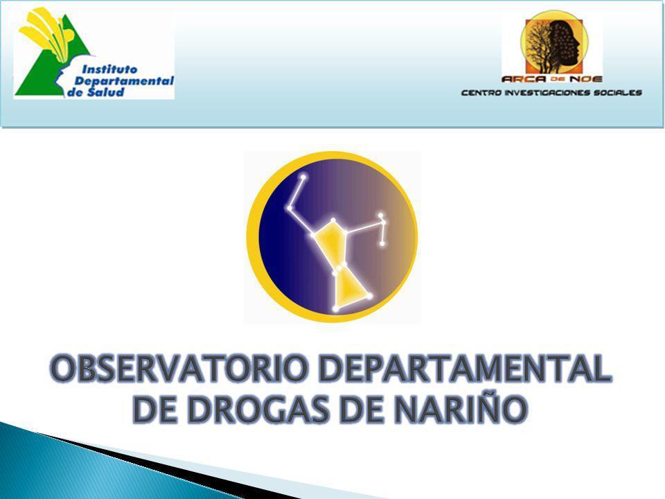 Es un proyecto que monitorea y consolida constantemente información sobre la evolución de la problemática de consumo de drogas en el Departamento de Nariño.
