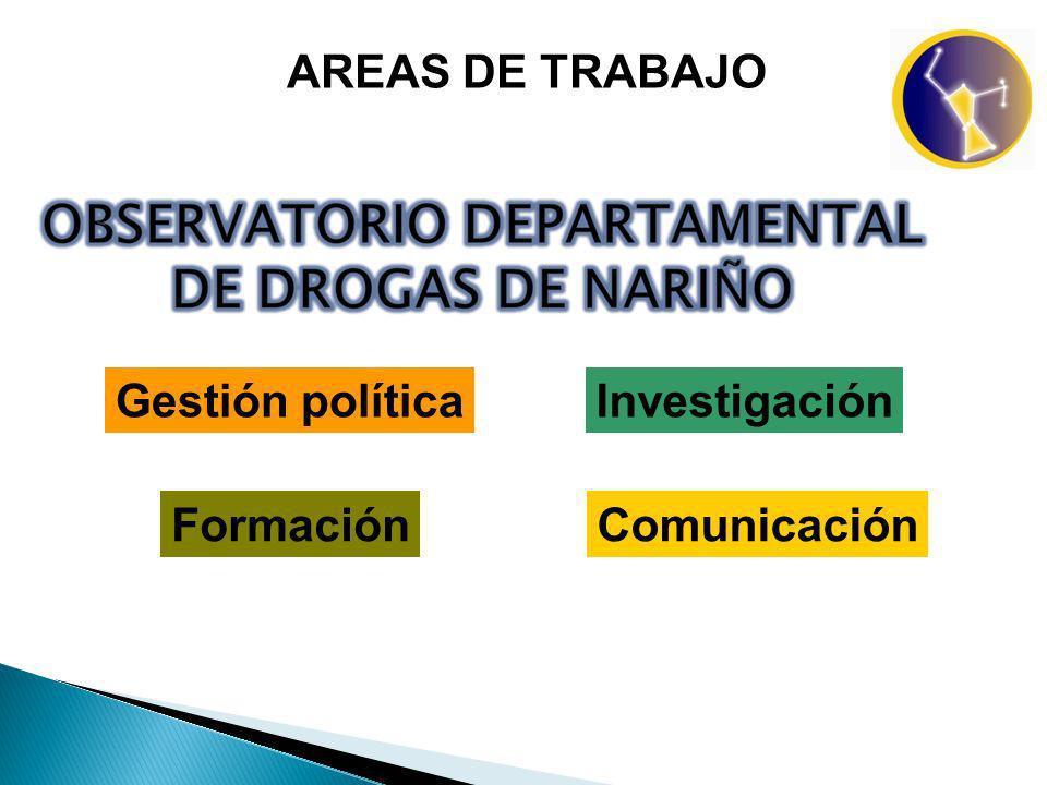 AREAS DE TRABAJO Investigación FormaciónComunicación Gestión política