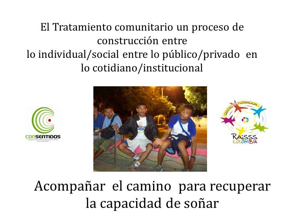 El Tratamiento comunitario un proceso de construcción entre lo individual/social entre lo público/privado en lo cotidiano/institucional Acompañar el camino para recuperar la capacidad de soñar