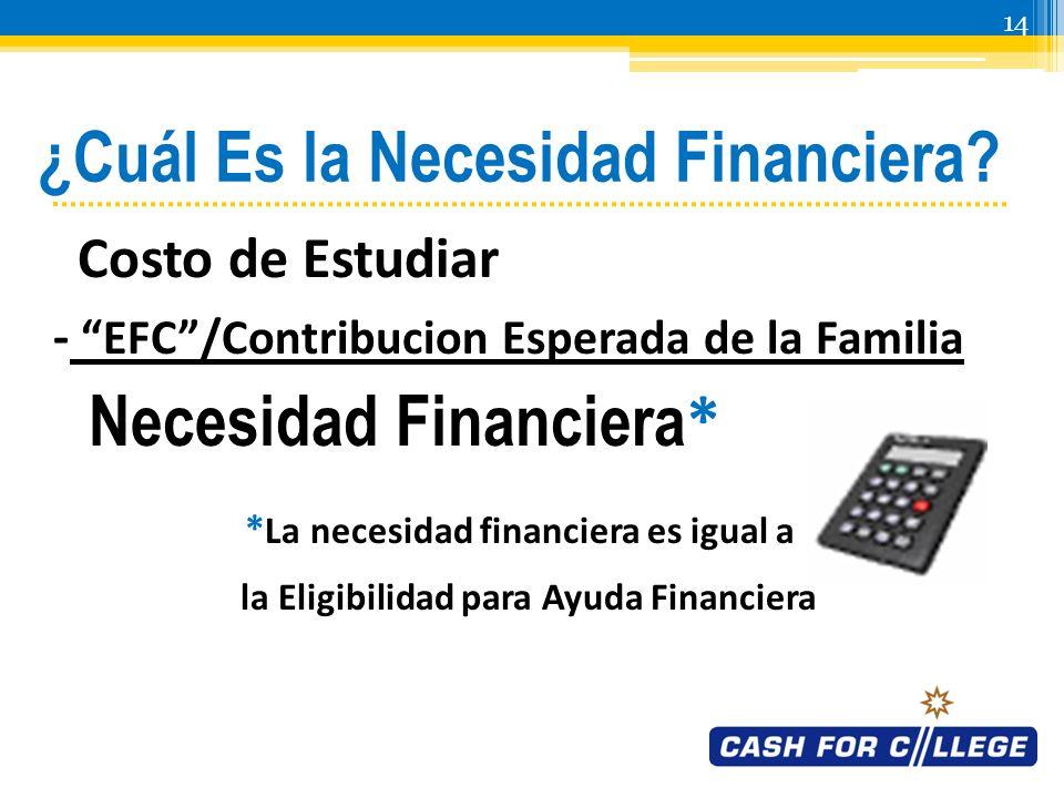 13 Cuál Es el EFC/Contribucion Esperada de la Familia.