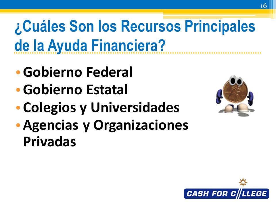 15 ¿Cuáles Son los Tipos Principales de Fondos de Ayuda Financiera.
