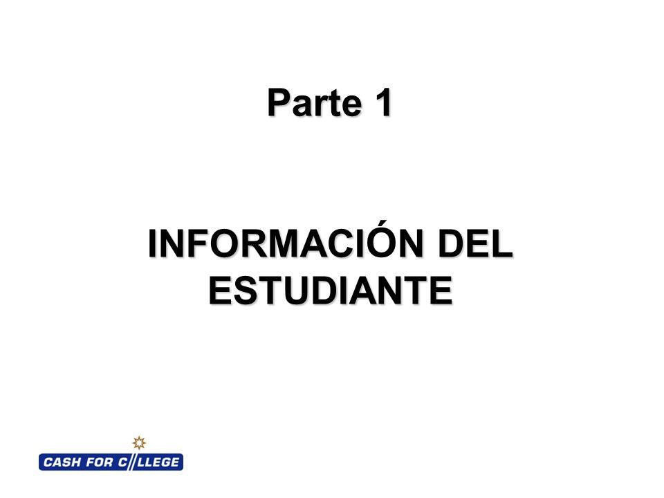 Parte 1 INFORMACIN DEL ESTUDIANTE Parte 1 INFORMACI Ó N DEL ESTUDIANTE