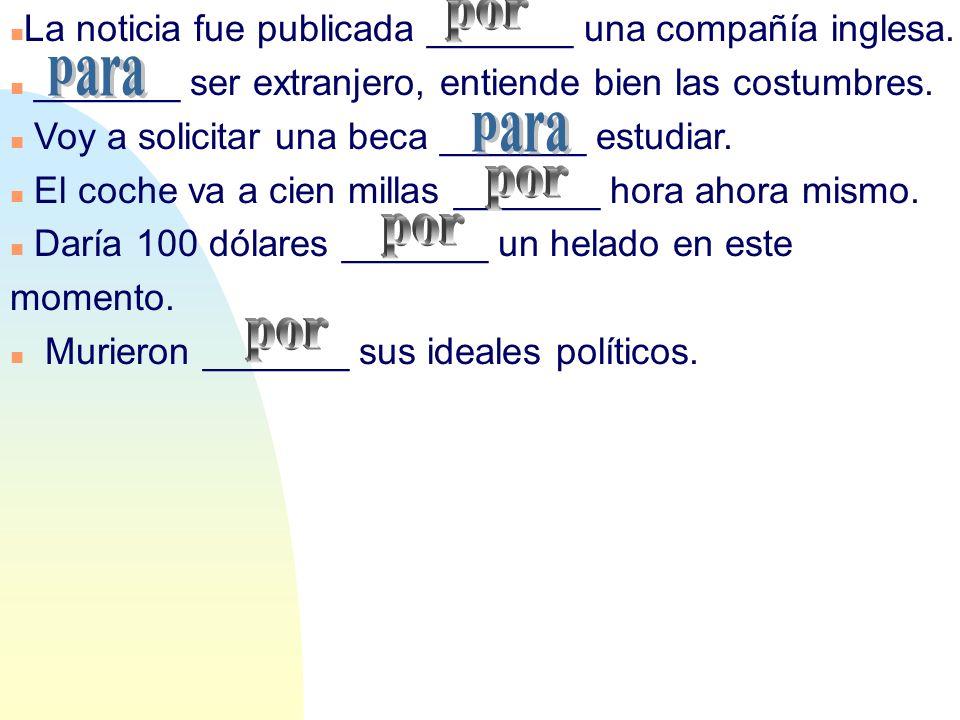 Trabajo ________ el hospital de La Paz en Madrid. Llamó ________ teléfono el otro día.