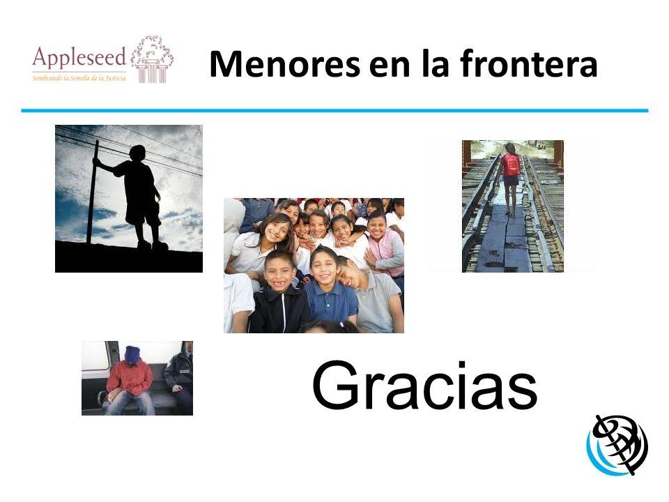 Menores en la frontera LOGO DE LA ORGANIZACIÓN Gracias