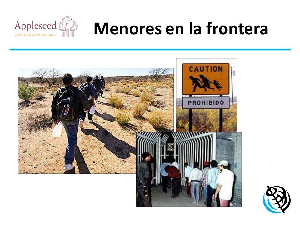 Menores en la frontera LOGO DE LA ORGANIZACIÓN Problema internacional que ha pasado por alto Incumplimiento sustancial de leyes Vacíos en la ley Insuficiente supervisión y barreras estructurales Riesgos: re-victimización, tráfico y explotación