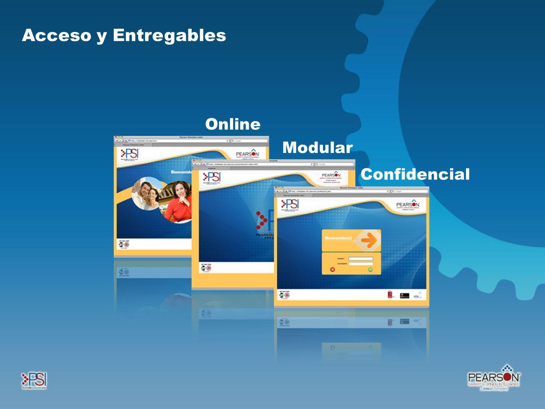 Online Modular Confidencial Acceso y Entregables