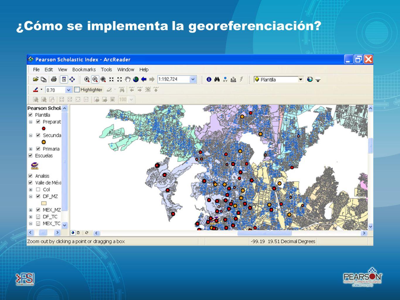 ¿Cómo se implementa la georeferenciación?