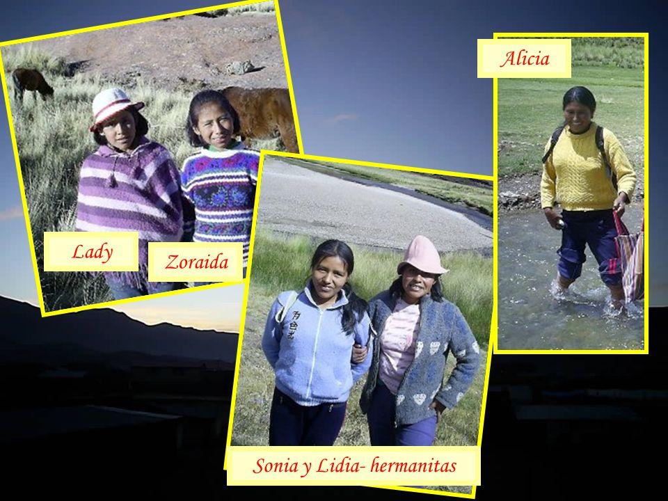 Lady Zoraida Sonia y Lidia- hermanitas Alicia