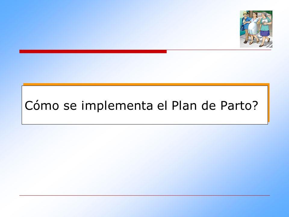 Cómo se implementa el Plan de Parto?