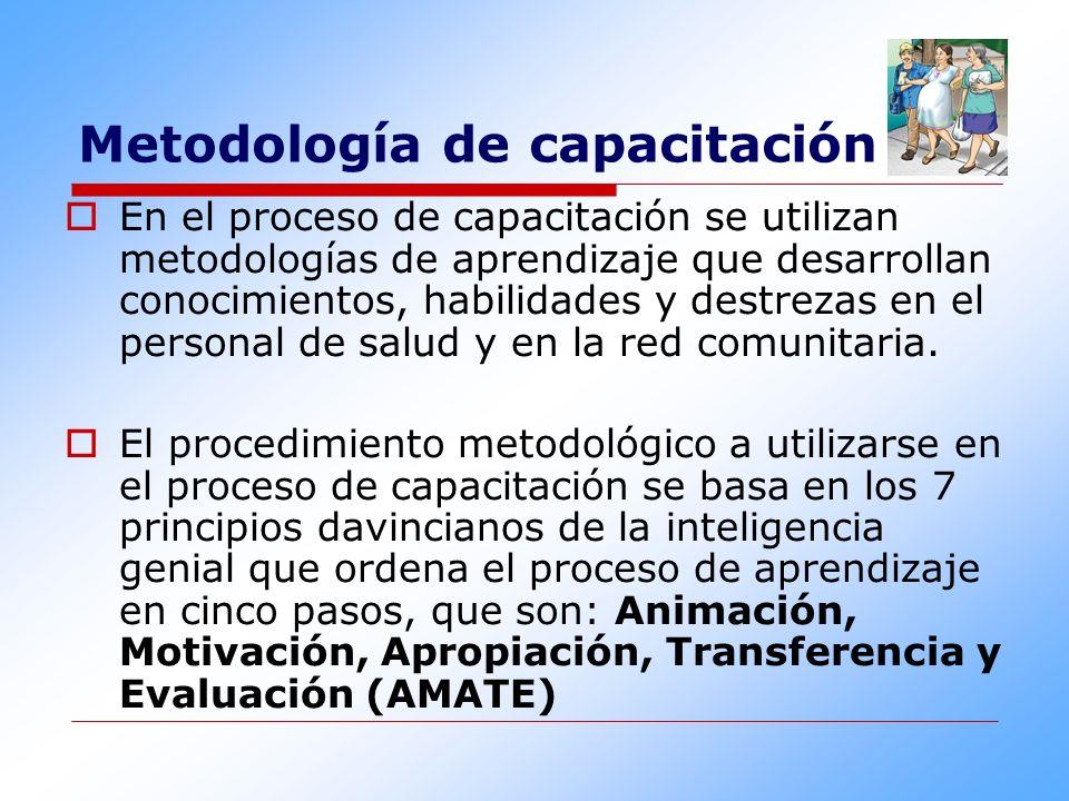 Metodología de capacitación En el proceso de capacitación se utilizan metodologías de aprendizaje que desarrollan conocimientos, habilidades y destrez