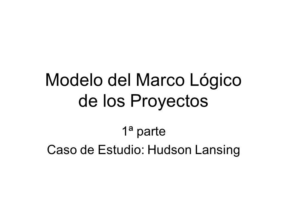 Modelo del Marco Lógico de los Proyectos 1ª parte Caso de Estudio: Hudson Lansing