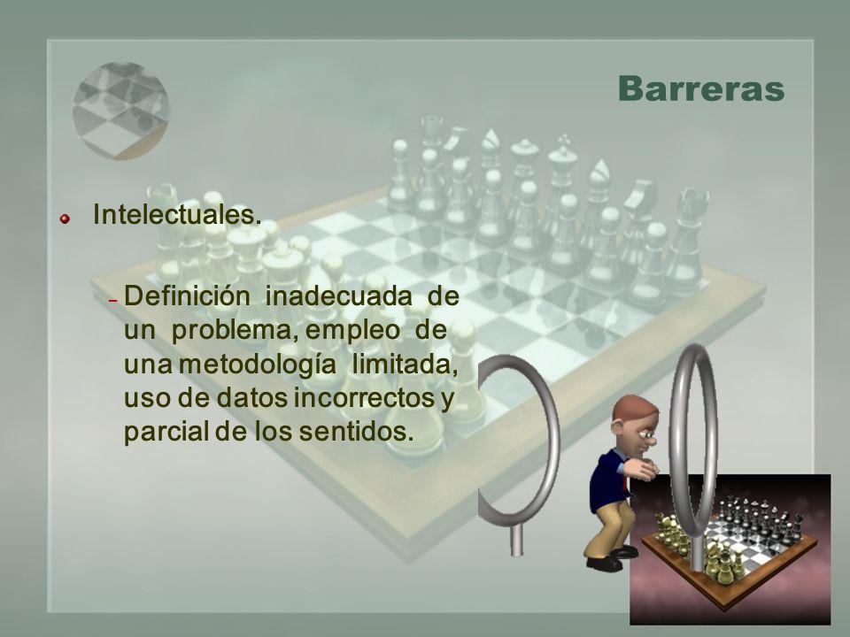Barreras Intelectuales.