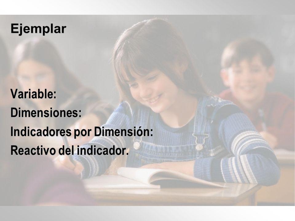 DimensionesIndicadores Educando Conocimientos m, n, o.
