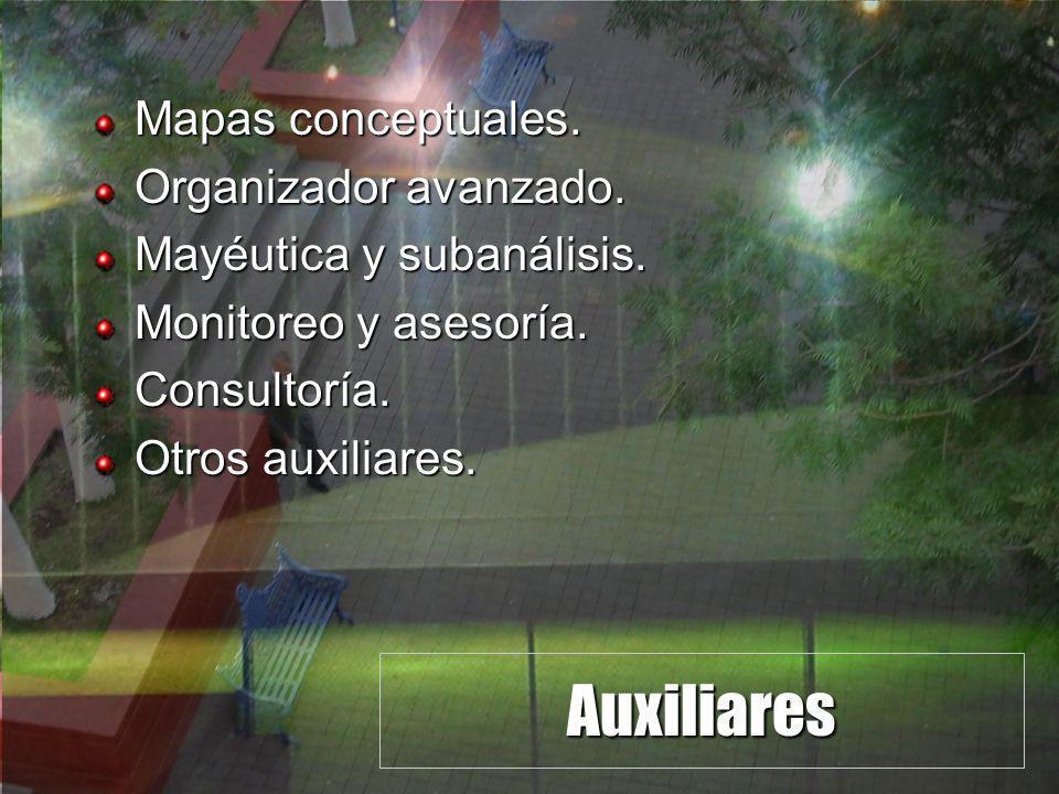 Auxiliares Mapas conceptuales.Organizador avanzado.
