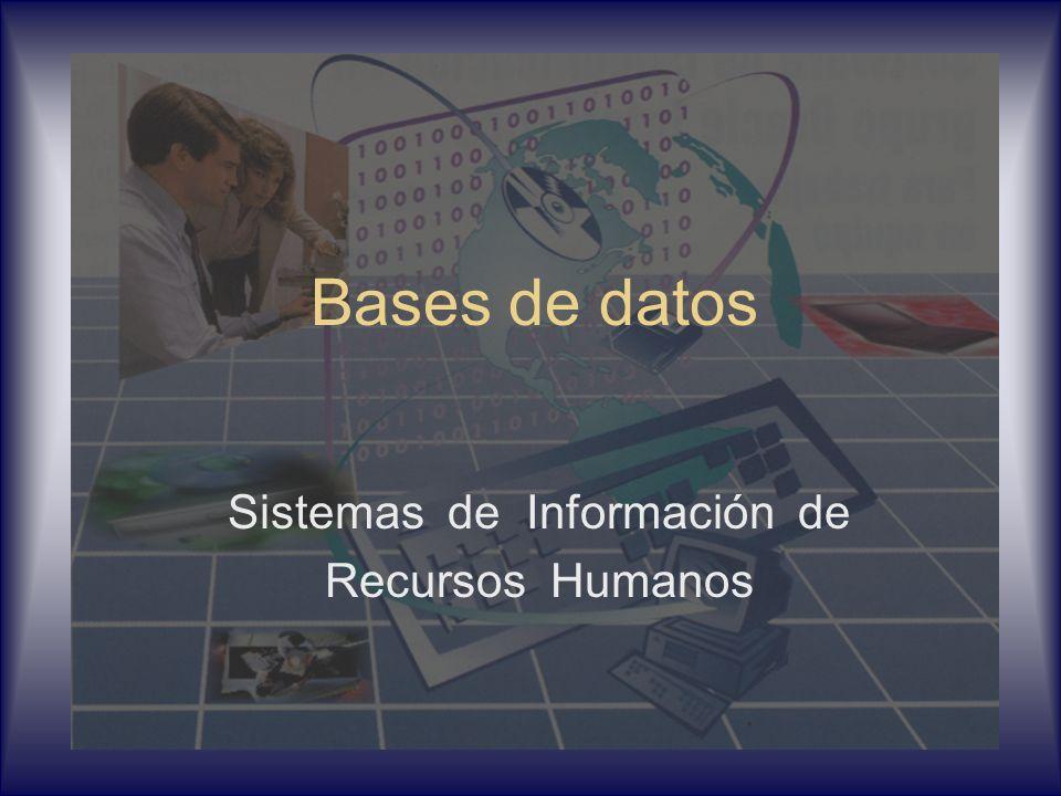 Bases de datos Sistemas de Información de Recursos Humanos