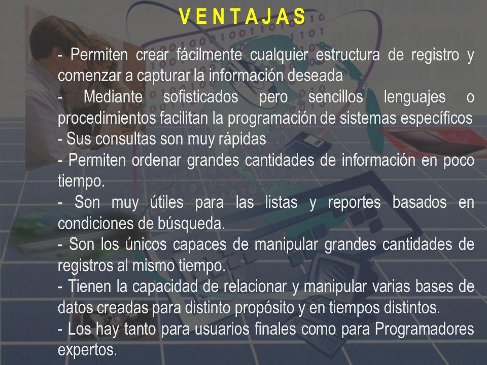 Base de datos relacional, en informática, tipo de base de datos o sistema de administración de bases de datos, que almacena información en tablas (fil